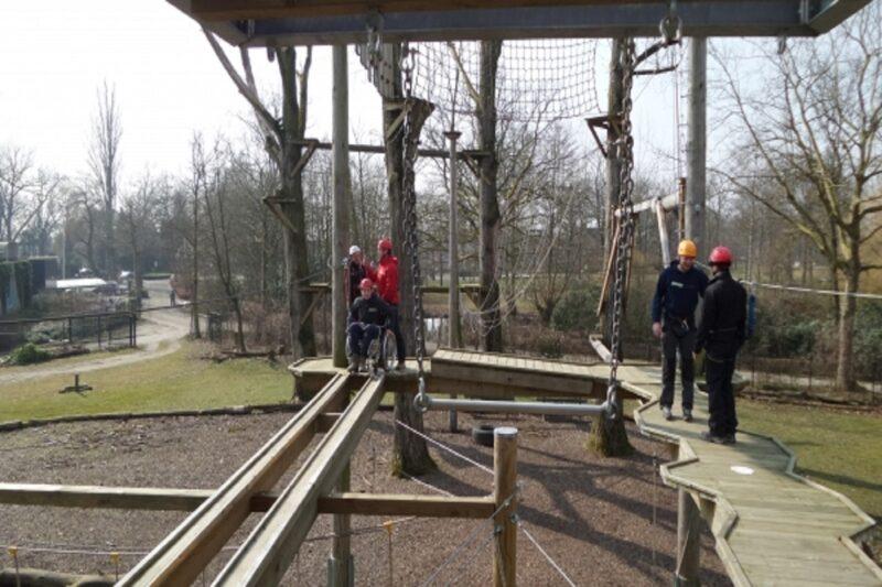 Outdoor Laarbeek hoogte parcours rolstoel