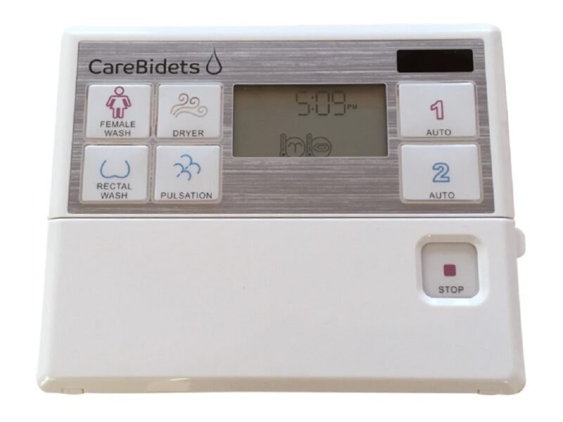 Bediening TOM CareBidet+ met 2 instelbare programma's