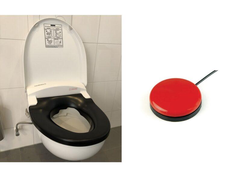 TOM CareBidet+ zwarte cover en Buddy Button Toilet Op Maat