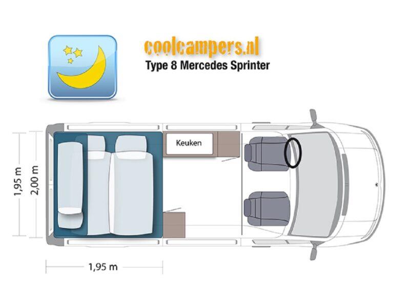 Camper-type-8-automaat-gaspedaal-links-plattegrond-nacht-korting Onbeperkt-leven